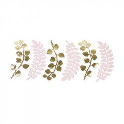 Feuilles fougères et eucalyptus (x6) - Rose pâle