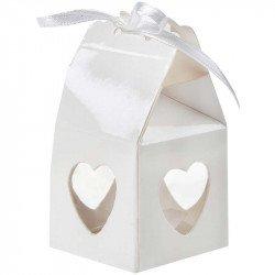 Boîtes Cœur (x4) - Blanc