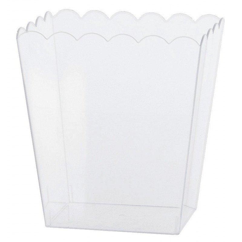 Contenant rectangulaire plastique