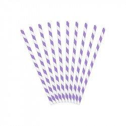 Pailles à rayures (x30) - Violet