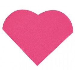 Serviettes cœur (x20) - Fuchsia