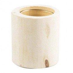 Photophore/vase en bois brut