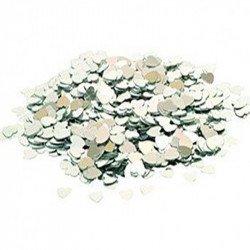Confettis petits coeurs - Argent