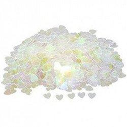 Confettis petits coeurs - Irisé
