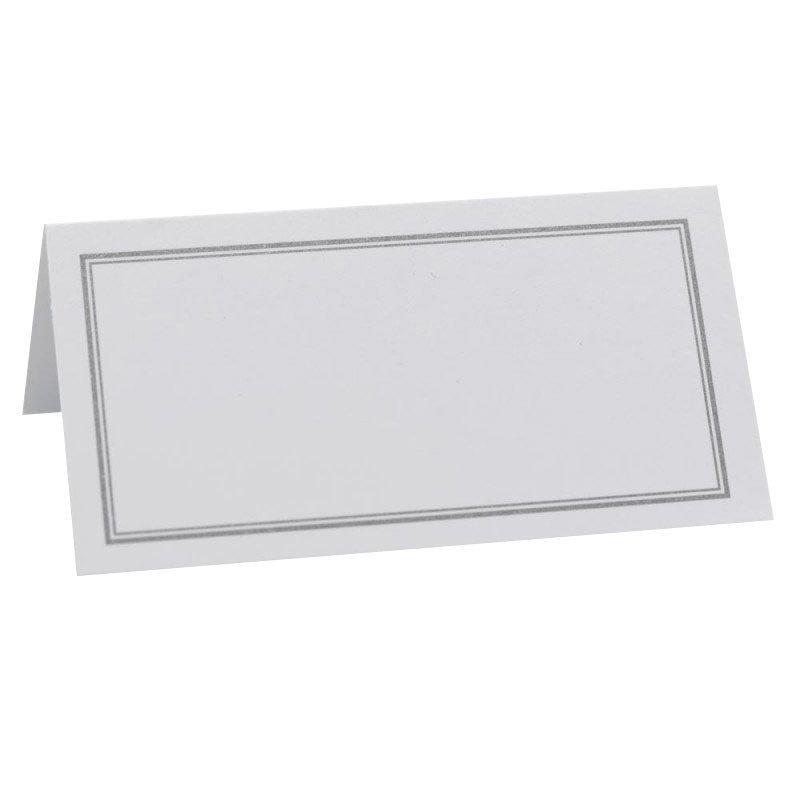 Marque place vierge avec liseret Blanc (x50)