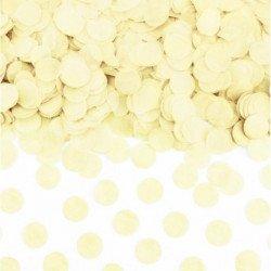 Confettis  ronds (x100) - Ivoire