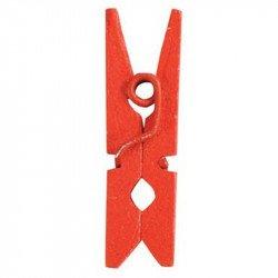 Pinces en bois (x12) - Rouge