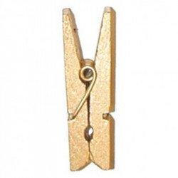 Pinces en bois (x12) - Or