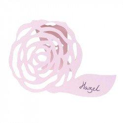 Marque-places Shabby fleuri (x10) - Rose pâle