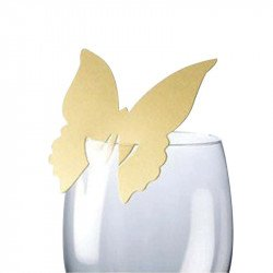 Marque-places Papillon (x10) - Or
