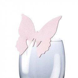Marque-places Papillon (x10) - Rose pâle