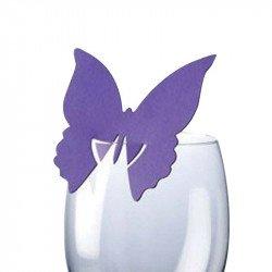 Marque-places Papillon (x10) - Violet