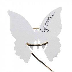 Marque-places Papillon (x10) - Blanc
