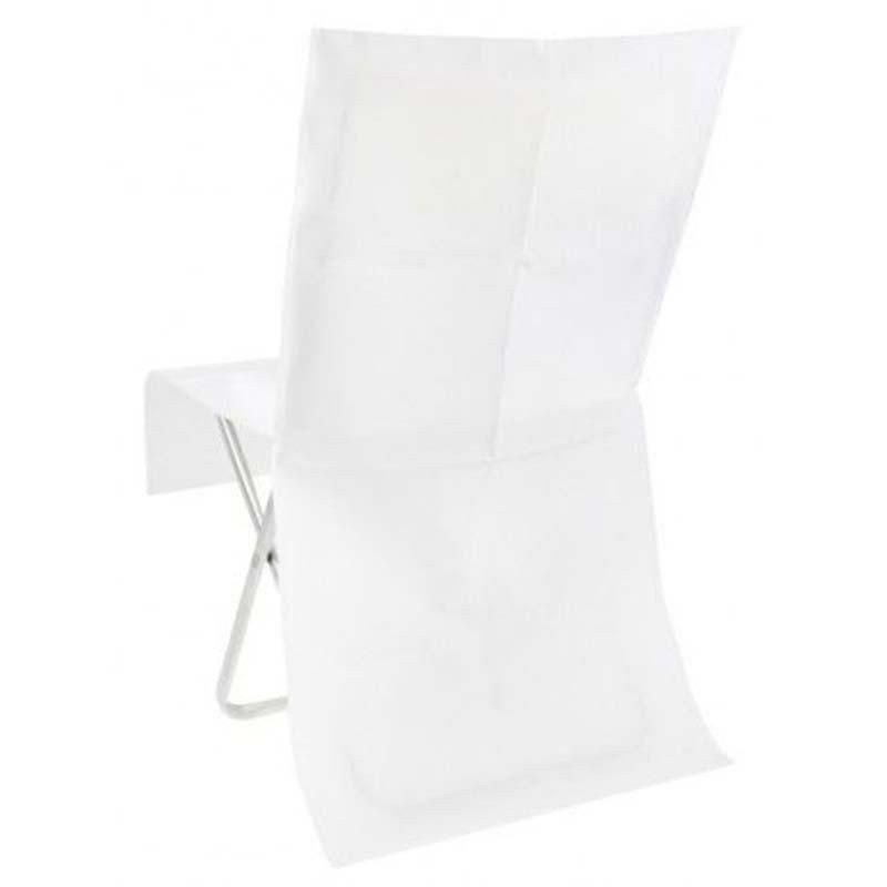 4 housses de chaise blanches