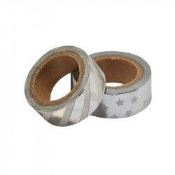 Masking tapes métallisés (x2) - Argent