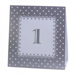 Numéros de table vintage de 1 à 12