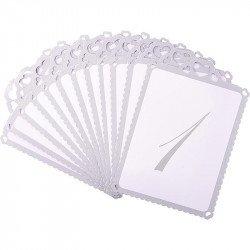 Marque-tables ornés de coeurs 1 à 12