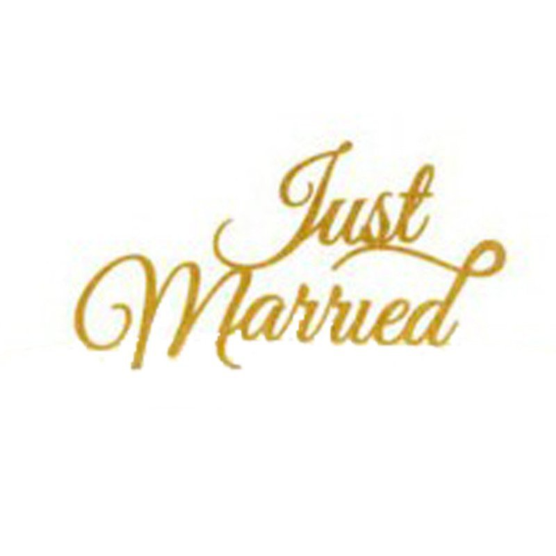 """Cake topper """"Just married"""" or"""