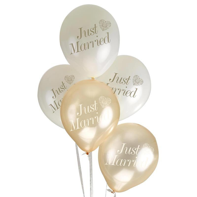 ballons just married coeur