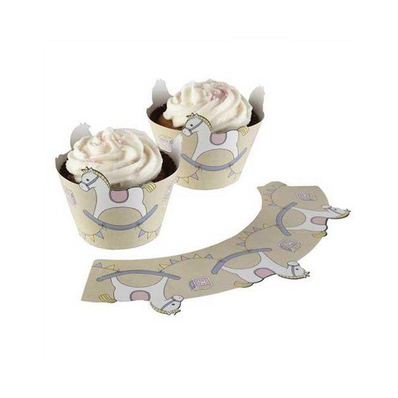 Moule à cupcake cartonné petits pieds (x10)