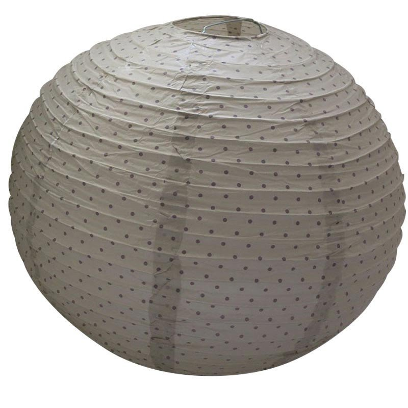 lampion papier taupe 60cm