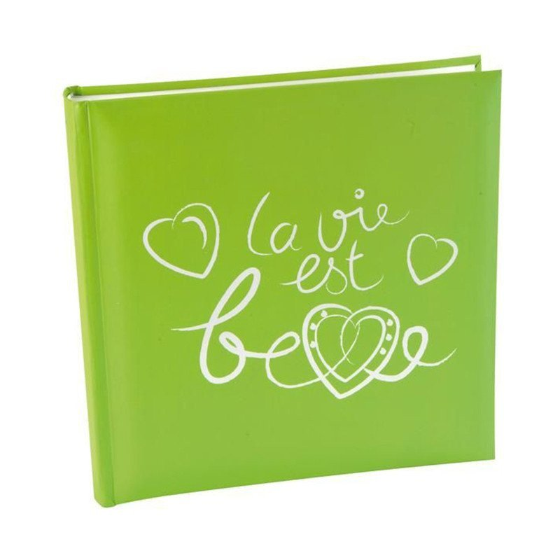 """Livre d'or  """"La vie est belle"""" Vert"""