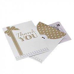 """Enveloppes """"Thank You"""" Vintage (x10)"""