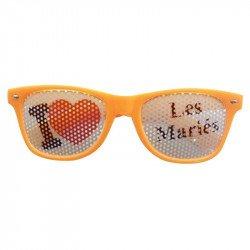 Lunettes Fun J'aime Les mariés - Orange