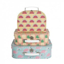 Valises Tropicales - lot de 3