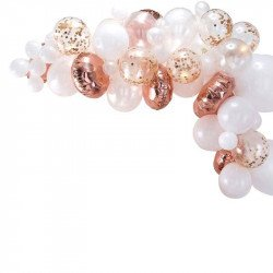 Arche de ballons - Rose gold