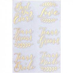 Tatouages Gold (x12)