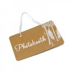 "Pancarte boho ""Photobooth"""