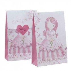 Pochettes cadeaux Princesse au Carrosse (x12)