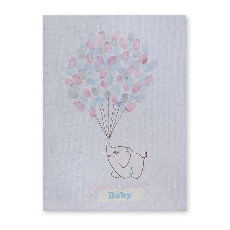 Tableau à empreintes Elephant aux ballons -1 unité