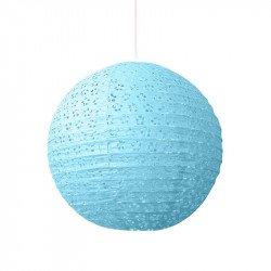 Lampion dentelle - Bleu ciel