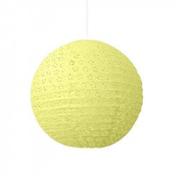 Lampion dentelle - Jaune pâle