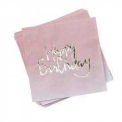 "Serviettes ""Happy Birthday"" (x20)"