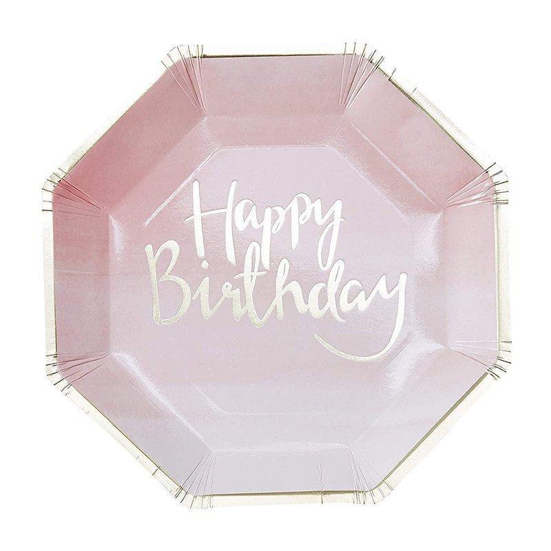 "8 Assiettes ""Happy Birthday"""