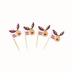Drapeaux Rudolf le cerf Noël (x20)