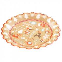Assiettes Noël Monsieur Pain d'épices (x8)