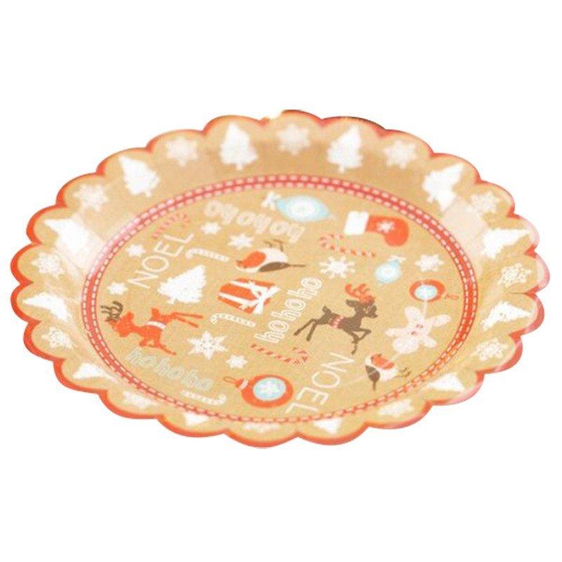 Assiettes Noël Pain d'épices -8 unités