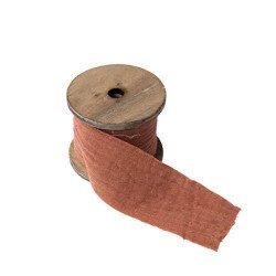 Ruban Gaze de coton - Vieux Rose
