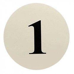 Numéros de table rond de 1 à 12 - Ivoire