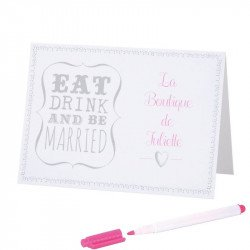 """Marque-places """"Eat, Drink and Be Married"""" (x10)"""