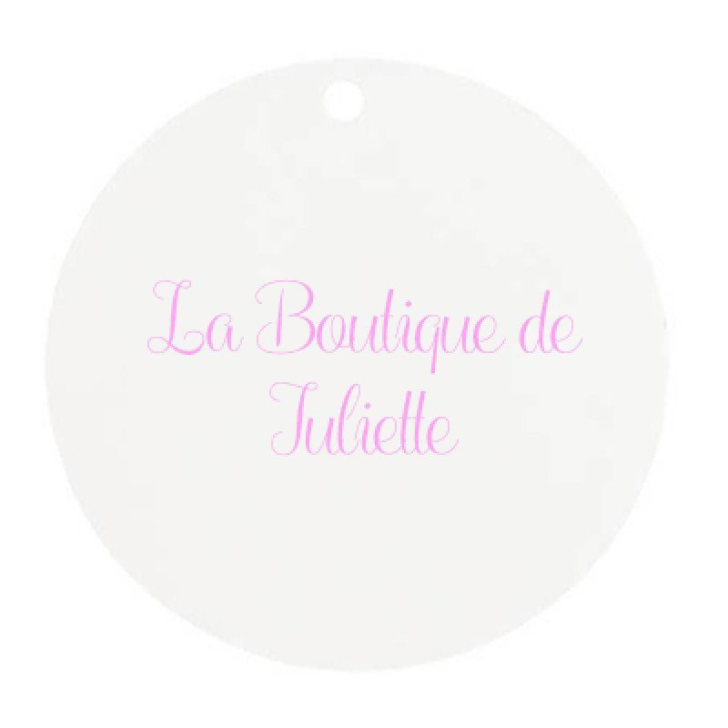 Marque place rond blanc (x10)