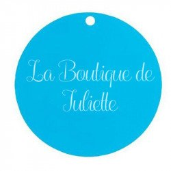 Marque-place ronds (x10) - Turquoise