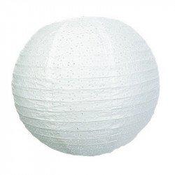 Lampion dentelle - Blanc