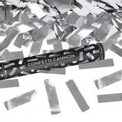 Canon à confettis métalliques - Argent