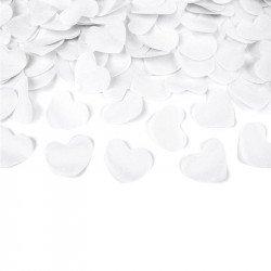Canon à confettis Coeurs - Blanc