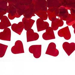 Canon à confettis Coeurs - Rouge